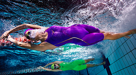 Leave the competition behind by using swimwear worn by elite swimmers.