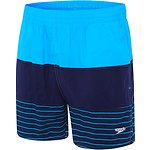 Image of Speedo Australia JAPAN BLUE/SPEEDO NAVY/LIMITLESS MENS PANEL SOLID LEISURE SHORT