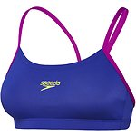 Image of Speedo Australia ULTRAMARINE/FLURO MAGENTA WOMEN'S ENDURANCE+ CROP TOP