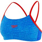 Image of Speedo Australia MARL LINES/BEAUTIFUL BLUE/USA RED WOMEN'S ENDURANCE+ CROP TOP
