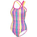 Image of Speedo Australia VIVID CHECK/BELLA/MOJITO WMNS VIVID CHECK ELEVATE STRAPBACK ONE PIECE
