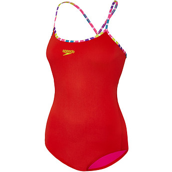 Image of Speedo Australia  WOMEN'S FIESTA TIE BACK ONE PIECE