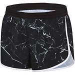 Image of Speedo Australia MARBLE SHINE/BLACK/WHITE WOMEN'S WORK OUT SHORT
