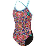 Image of Speedo Australia BEAUTIFUL BLUE/MOJITO WOMENS HIGH LG OPN X BCK OP