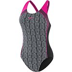 Image of Speedo Australia BLACK/FAN/MARL LINES/ELECTRICK PINK WOMEN'S IMAGE UPLIFT ONE PIECE