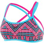 Image of Speedo Australia ZIGGY/HAPPYNESS/TURQUOISE WOMEN'S DOUBLE CROSSBACK CROP TOP