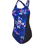 Image of Speedo Australia DIGITAL FLORA/BLACK WMNS DIGITAL FLORA X BACK ONE PIECE