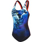 Image of Speedo Australia STROMFLOW/BLACK/FIESTA WOMEN'S STORMFLOW MUSCLEBACK ONE PIECE