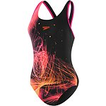 Image of Speedo Australia NEON GLOW/BLACK/ELECTRICK PINK WOMENS MUSCLEBCK OP