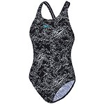 Image of Speedo Australia BLACK/WHITE/EUCALYPTUS WOMEN'S BOOM PULLBACK ONE PIECE