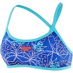 Image of Speedo Australia MARRAKECH BLUES/TURQUOISE WOMEN'S CROSSBACK CROP TOP