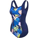 Image of Speedo Australia SPEEDO NAVY/PALMS WOMEN'S CONTOUR MOTION ONE PIECE