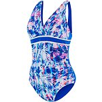 Image of Speedo Australia VISION STRIPES/BEAUTIFUL BLUE WOMEN'S PANAMA SCOOPBACK ONE PIECE