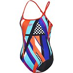 Image of Speedo Australia COLOUR BLOCK/FIESTA/BELLA WMNS COLOUR BLOCK CONVERTIBLE BACK ONE PIECE