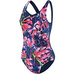 Image of Speedo Australia POWER SWIRL/SPEEDO NAVY  WOMEN'S CONTOUR SCOOPBACK ONE PIECE