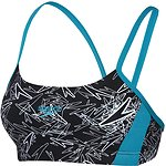 Image of Speedo Australia BLACK/WHITE/EUCALYPTUS WOMEN'S BOOM CROP TOP