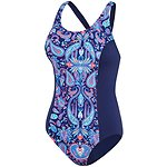 Image of Speedo Australia BLUE BELL/MYSTIC BLUE WOMEN'S D/DD LEADERBACK ONE PIECE