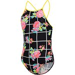 Image of Speedo Australia Floricheck GIRLS FLORICHECK HIGH NECK ONE PIECE