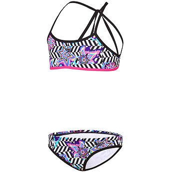 Image of Speedo Australia  GIRLS OPTICAL STAR STRAP BACK TWO PIECE