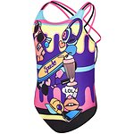 Image of Speedo Australia GIRLY FUN/BLACK GIRLS GIRLY FUN TRIPLE CROSSBACK ONE PIECE