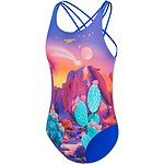 Image of Speedo Australia CACTUS DESERT GIRLS TRIPLE CROSSBACK ONE PIECE