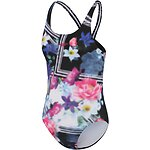 Image of Speedo Australia PIXE FLORAL GIRLS SPEEDO ECO FABRIC LEADERBACK ONE PIECE