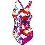 Image of Speedo Australia Lace Wing/Fluro Magenta GIRLS LEADERBACK ONE PIECE