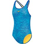 Image of Speedo Australia BEAUTIFUL BLUE/PACIFIC GIRLS MONOGRAM SPLASHBACK ONE PIECE