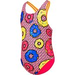 Image of Speedo Australia DONUT FUN/ELECTRICK PINK TODDLER GIRLS LEADERBACK ONE PIECE