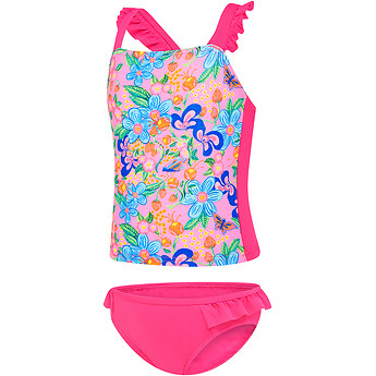 Image of Speedo Australia  TODDLER GIRLS FLORAL DREAM FLOUNCE TANKINI SET