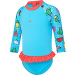 Image of Speedo Australia SUNNY FUN/SIREN RED TODDLER GIRLS FLOUNCE SUN SUIT