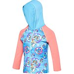 Image of Speedo Australia BUBBLE WORLD TODDLER GIRLS BUBBLE WORLD HOODED LONG SLEEVE RASHIE