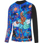 Image of Speedo Australia TROPICAL BONEZ/BLACK  BOYS TROPICAL BONEZ LONG SLEEVE RASHIE