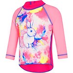 Image of Speedo Australia BALLERINA BUNNY/ELECTRICK PINK  TODDLER GIRLS LOGO LONG SLEEVE SUNTOP