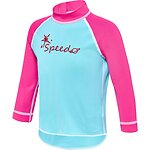Image of Speedo Australia  TODDLER GIRLS LOGO LONG SLEEVE SUNTOP