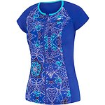 Image of Speedo Australia MARRAKECH BLUES WOMEN'S CAP SLEEVE SUN TOP