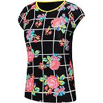 Image of Speedo Australia Floricheck GIRLS LINEAL LOGO SHORT SLEEVE SUN TOP