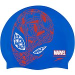 Image of Speedo Australia NEON BLUE/LAVA JUNIOR SLOGAN SPIDERMAN CAP