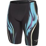 Image of Speedo Australia BLACK/BALI BLUE/FLURO GREEN MEN'S FASTSKIN LZR RACER X HIGH WAISTED JAMMER
