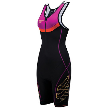 Image of Speedo Australia  FASTSKIN PHOTON FEMALE TRIWEAR BLK/FUSHIA